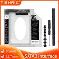 TISHRIC 9,5 мм/12,7 мм жесткого диска SATA HDD Caddy Корпус жесткого диска Тетрадь 2nd HDD Caddy Optibay Bay SSD чехол для ноутбука CD-ROM