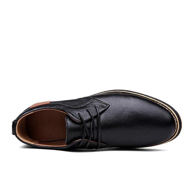 Мужские туфли оксфорды из натуральной кожи 4