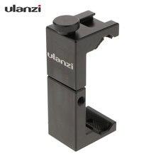 Ulanzi ST 02S Aluminium Mobiele Telefoon Statief Mount Klem Houder Met Hot Shoe Handvat Rig Clipper Voor Iphone Vlogging Fillmaking
