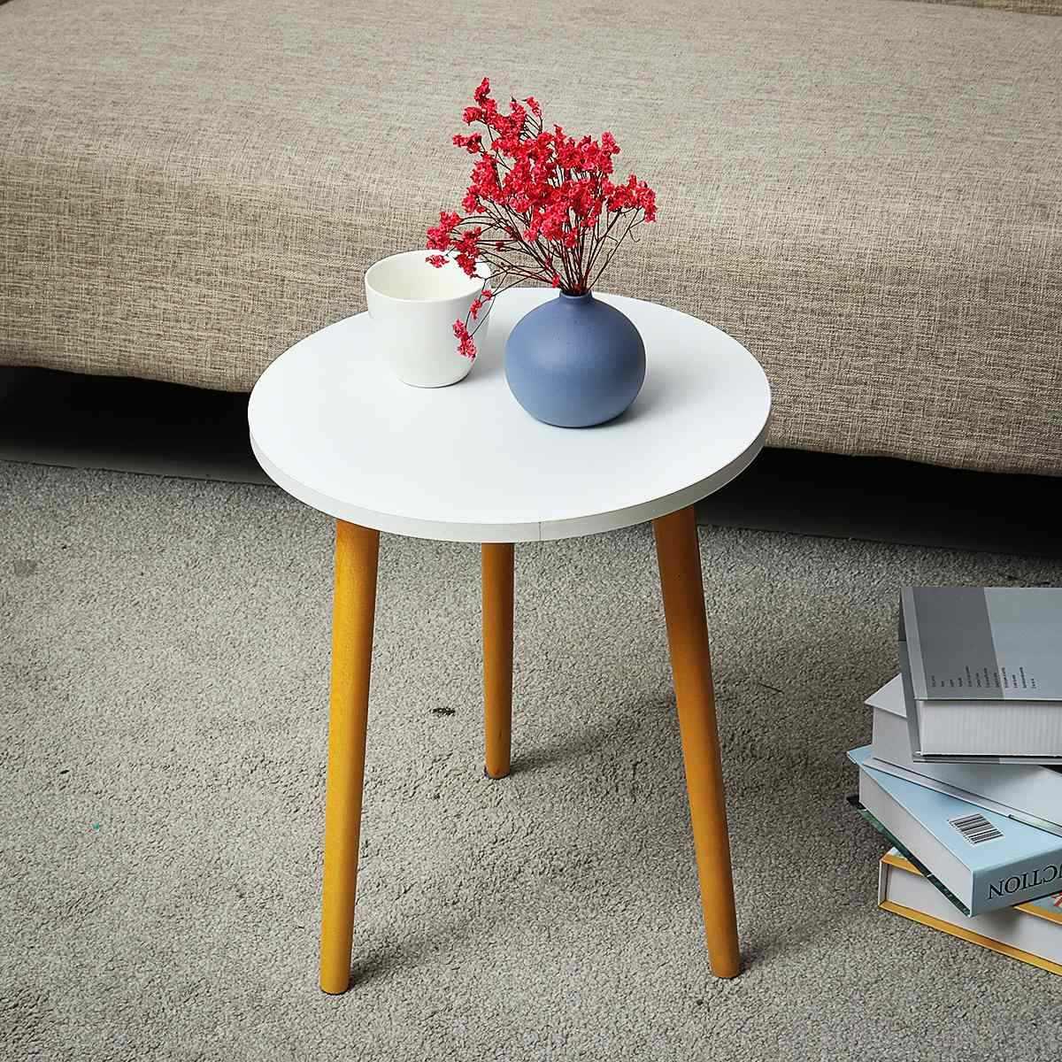 モダンな木製コーヒー北欧便利ソファ円形実用的な天然茶側リビングルームの装飾 35 × 42 センチメートル
