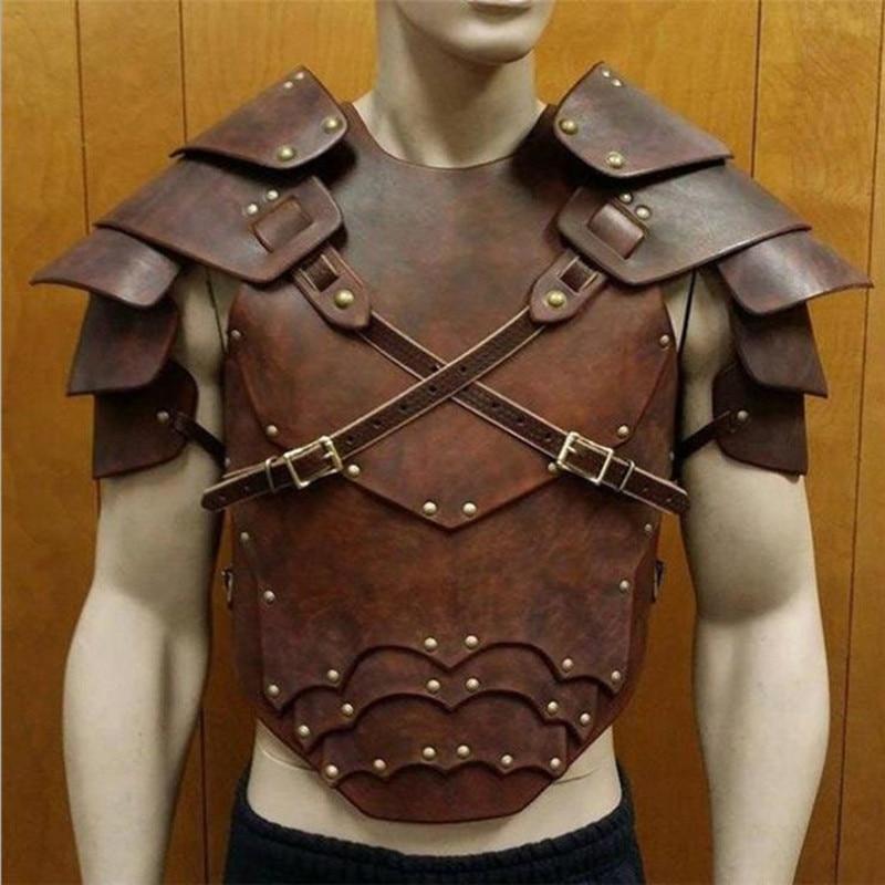 body harness chain jewelry Larp Viking Post Apocalyptic Pauldron Armor Medieval Costume Cosplay Steel Men Metal Barbarian Fantasy bdsm
