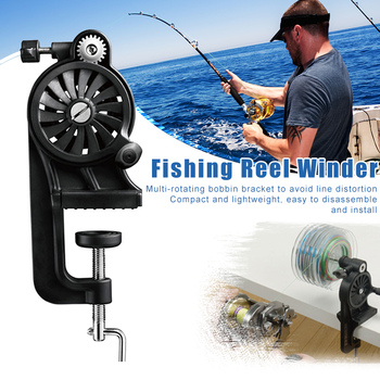 Newly Portable Fishing Line Winder Spooler Machine Multi-Function Fast Spin Reel Tools S66
