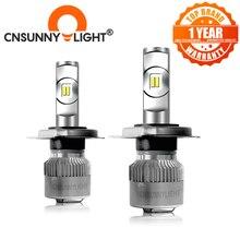 CNSUNNY светильник R2 H7 светодиодная лампа H11/H8 H4 9005/HB3 9006/HB4 Turbo Автомобильные фары 6000 лм Автомобильные фары K светильник