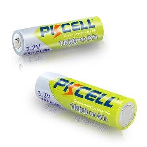Image 4 - 16 יח\חבילה PKCELL 1.2V 1000mAh NiMh AAA סוללה נטענת Ni mh 3A סוללות AAA Battria גבוהה באנרגיה לפנס צעצועים