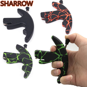 1pc 3 Finger Archery Compound Bow Release Aids Strong Plastic humb Finger Grip Caliper For Outdoor Hunting Shooting Accessories цена 2017