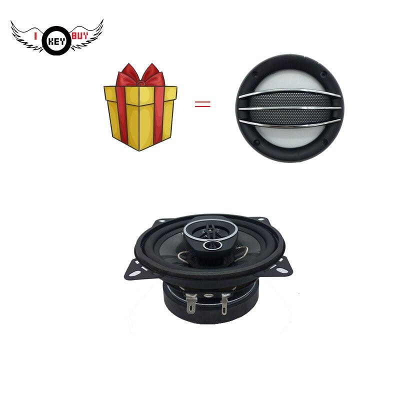 Neue 2 teile/los 4 Zoll Auto Lautsprecher 200 W 4 Ohm 3 Weg Koaxial Gummi Rand Injection Kegel Kunststoff Abdeckung zubehör