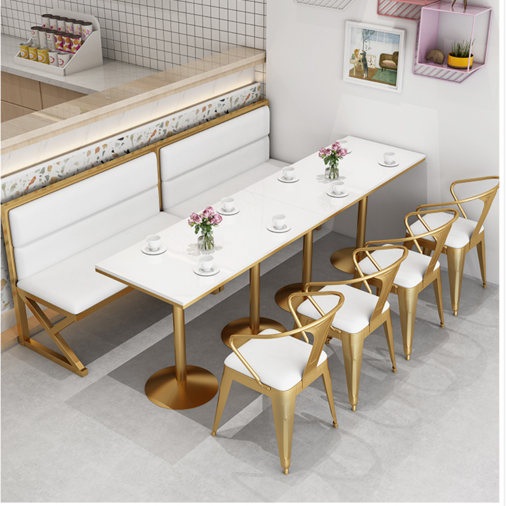 Купить с кэшбэком Tea shop card seat sofa table and chair combination Nordic simple leisure net red restaurant commercial dessert cafe table and c