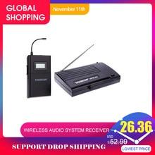 Takstar WPM 200/Takstar WPM 200R UHF אלחוטי אודיו מערכת מקלט LCD תצוגת 6 ערוצים לבחירה 50m שידור מרחק