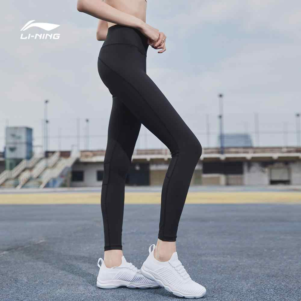 Li-Ning Vrouwen Professionele Layer Broek Tight Fit Training Fitness Ademend Comfort Voering Sport Broek AULN036 CJFM18