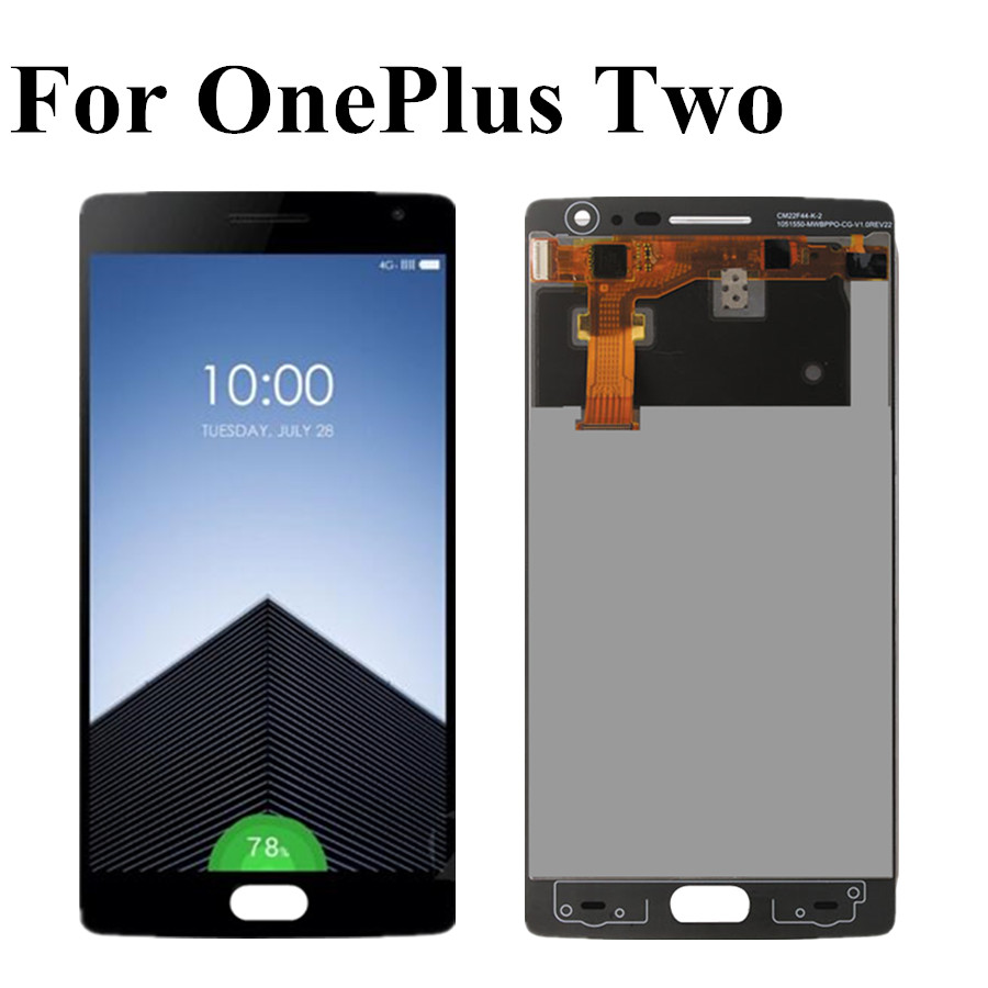 For <font><b>Oneplus</b></font> Two LCD Display Touch <font><b>Screen</b></font> Digitizer Assembly <font><b>Replacement</b></font> For For <font><b>Oneplus</b></font> Two <font><b>2</b></font> A2001 A2003 A2005 LCD Display image