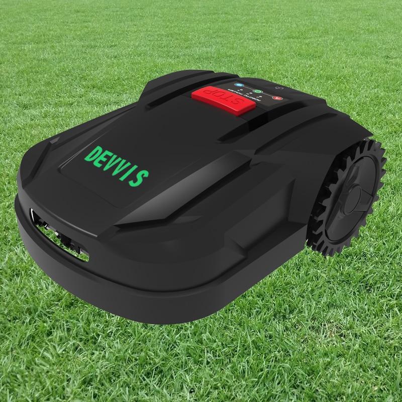 DEVVIS Automatic Grass Cutter Machine for Garden H750 with 2 2ah lithium Battery Auto RechargeScheduleGyroscope Navigation