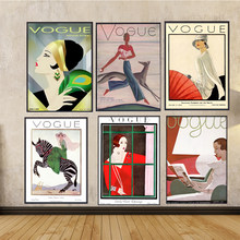 Wall Art pictures Vintage Cuadros Vogue Figure Quotes Poster and Prints Canvas Painting Women Vintage Posters Decorative Picture