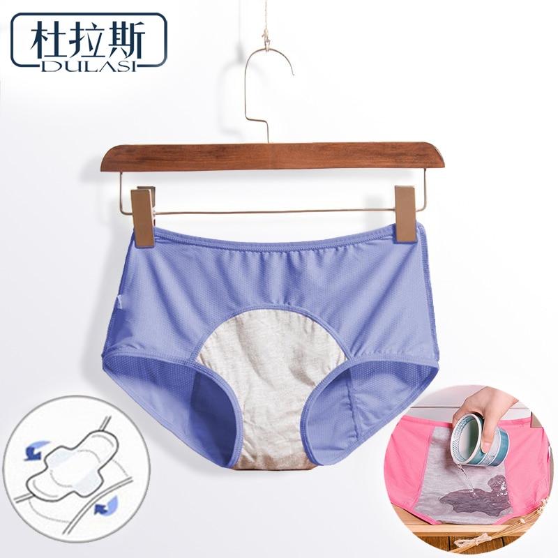Leak Proof Menstrual Period Panties Women Underwear Physiological Pants Cotton Health Seamless Briefs High Waist Warm For Female