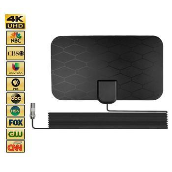 2021 najnowszy 4K High Definition antena HDTV cyfrowa antena telewizyjna DVB-T2 antena telewizyjna unikalna cyfrowa antena HDTV o wysokiej rozdzielczości antena HDTV tanie i dobre opinie viugreum NONE CN (pochodzenie) Indoor Antenna enhancer support 4K HD mode 5dB 25dB with amplifier Dropship Wholesale Epacket