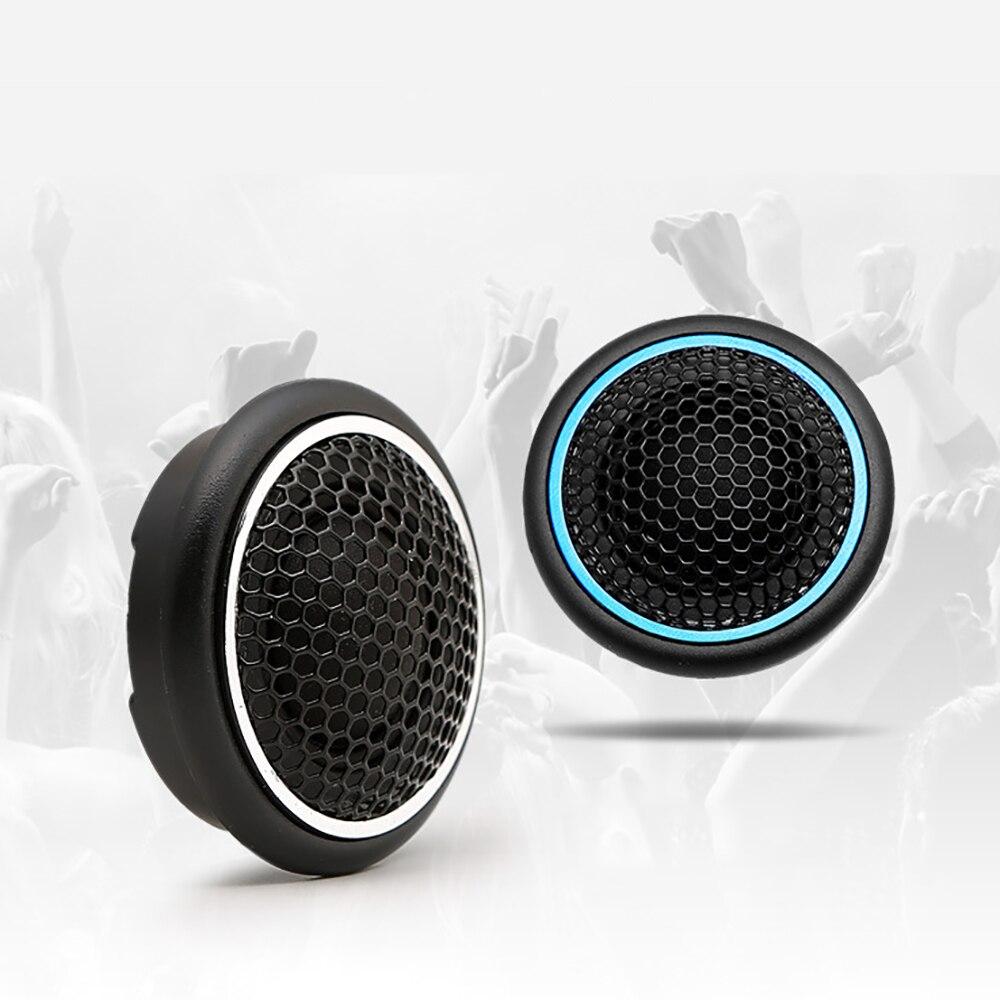 20W Mini Altavoz para autom/óvil Audio Redondo Altavoz autoadhesivo Altavoz para autom/óvil con pegamento Negro Gorgeri Car Tweeter