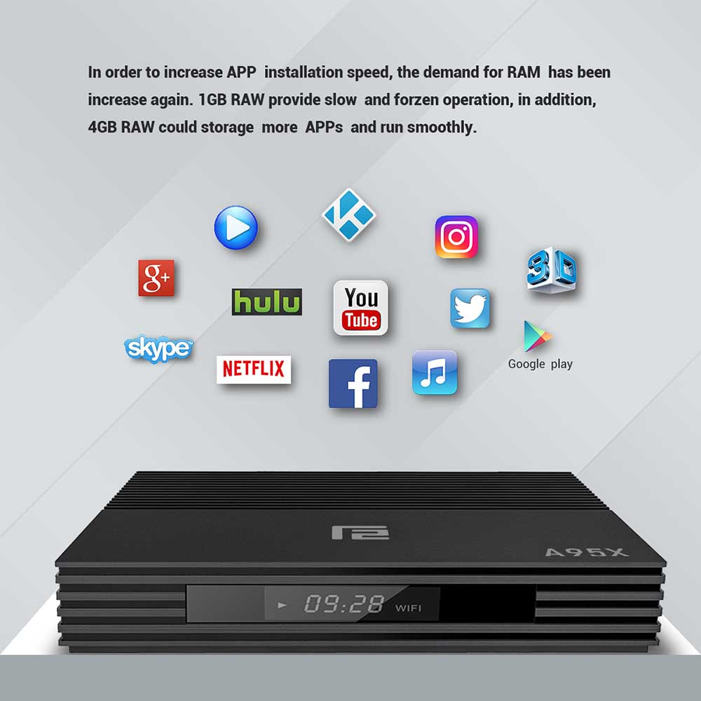 Image 5 - Android 9.0 Smart TV Box A95X F2 Amlogic S905X2 USB3.0 1080P H.265 4K 60fps Google Player Store Netflix Youtube 4K Set top Box-in Set-top Boxes from Consumer Electronics