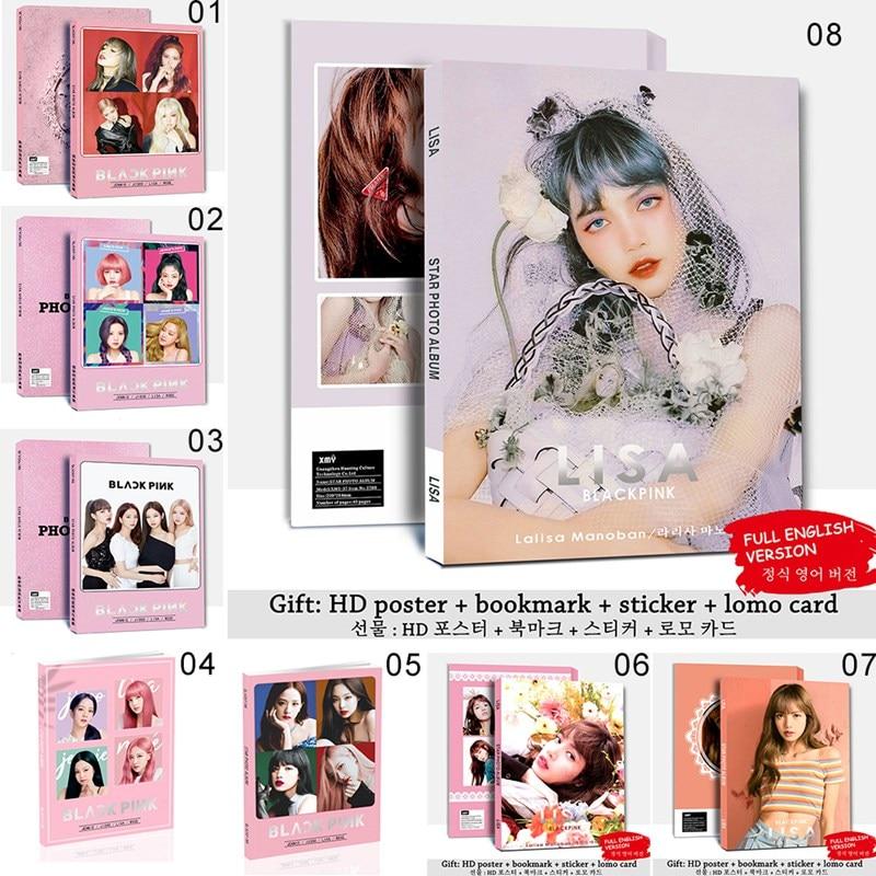 1 Set Korean Kpop Blackpink Girls Lisa Jennie New Photo Album Autograph Book Photo Cards Sticker For Fans Collective Gift Stationery Set Aliexpress