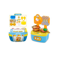 Kitchen Toys S+S Toys 200281158 Game set Kitchen in the suitcase Kitchen Toys 200281158 Toys Hobbies Pretend Play for children < 3 years old Unisex