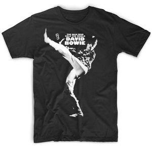 Давид Боуи человек, который продал мир черная футболка хлопок все размеры Hipster хипстерские футболки летние мужские футболки