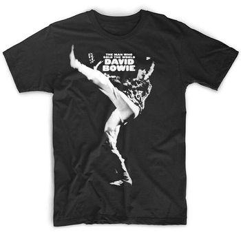 David Bowie el hombre que vendio el mundo negro camiseta algodón todas las tallas S-3XL Hipster camisetas verano hombres camiseta