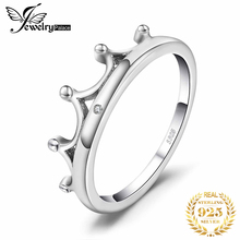 JewelryPalace Crown Cubic Zirconia Ring 925 Sterling Silver Rings for Women Stackable Ring Band Silver 925 Jewelry Fine Jewelry classic rhodium finish men sterling silver 925 ring 5 5mm round cubic zirconia jewelry bijoux homme size 10 to 13 r500