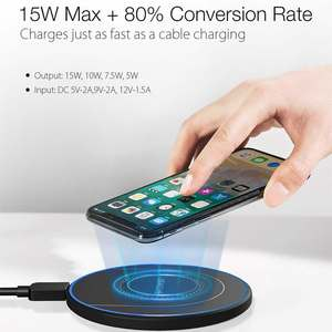 Image 2 - BlitzWolf BW FWC7 Fast Wireless Charger 15W USB Qi Charging Pad for Mobile Phone