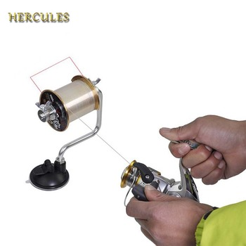Hercules Fishing Line Winder Reel Line Spool Spooler Winding System Tackle Pesca Suction Cup Portable Fishing Tool Accessories piscifun fishing line spooler portable spool line bobbin winder spooler spinning bait cast reel spool fishing reel line winder