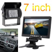 7 inch 12V/24V TFT LCD Wireless Rear View Monitor CMOS IR Night Vision Backup Camera Kit Parking System New sale 7 inch tft lcd color car rearview mirror monitor wireless 10 ir night vision reversing camera for parking backup
