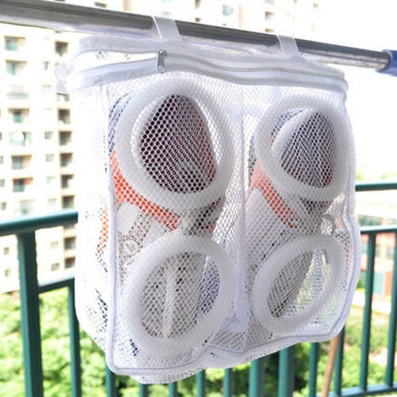 New Style Hanging Dry Shoe Washing Bag Laundry Mesh Net Sneaker Bra Storage Household