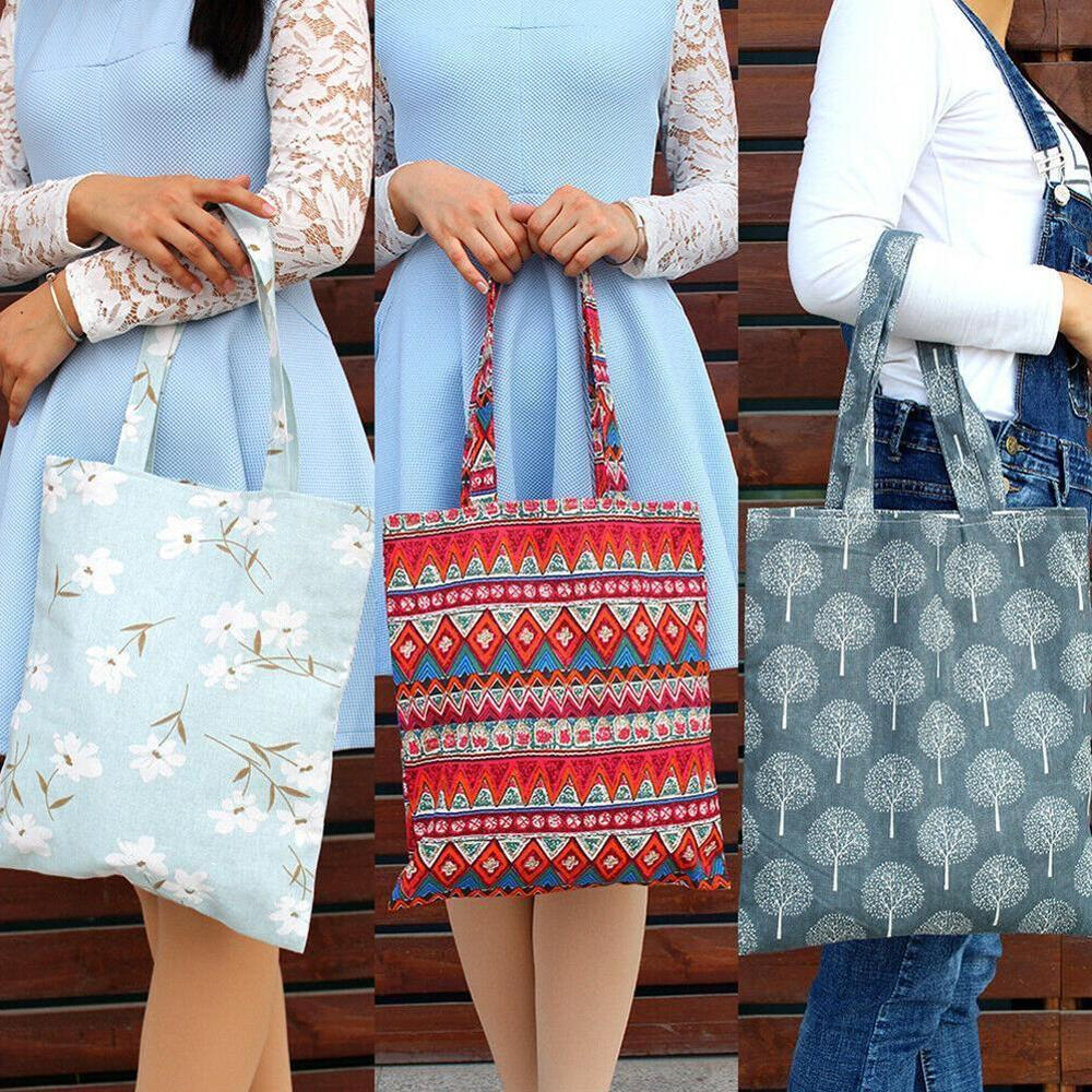 Women Handbag Student Cotton Linen Fashion  Shoulder Tote Handbag Eco Shopping Large Capacity Canvas Purse