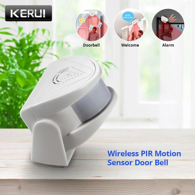 KERUI M5 32 Songs беспроводной PIR датчик движения дверной звонок магазин оповещения посетителей сигнал тревоги охранный дверной звонок для офиса/д...