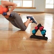 Тяжелая атлетика гантели стойки Кронштейн вес поддержка гантели напольный кронштейн домашний спортивный инвентарь