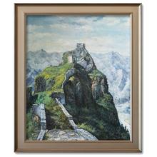 Китайская Великая стена пейзаж Ручная роспись маслом от профессионального