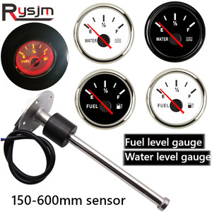 Universal 52mm Digital Fuel Level Gauge for 0-190ohm fuel gauge Fuel Sender Unit Water Level Sensors fit marine boat yacht car