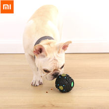 Xiaomi Dog Leaking Food Dispenser Ball Squeaky Toy Pet Toys Interactive Molars Teddy Golden Retriever Xiomi Home Bite-resistant(China)