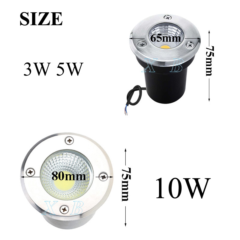 4 Pack IP68 Waterproof LED Underground Light 5W 10W 15W Outdoor Ground Garden Path Floor Buried Yard Spot Landscape 110V220V 12V