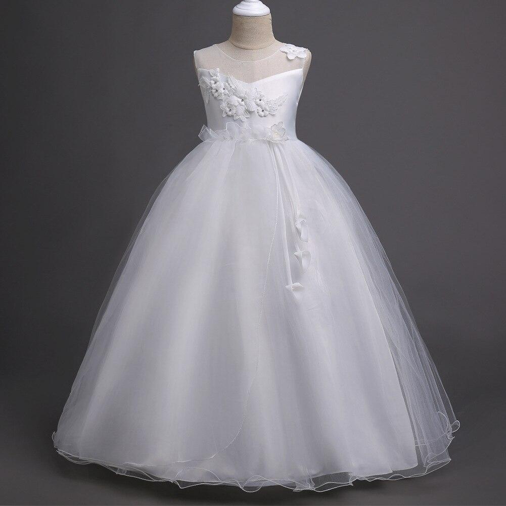 Girl'S Gown Gauze Princess Dress Flower Boys/Flower Girls Long Skirts Piano Performance Wear