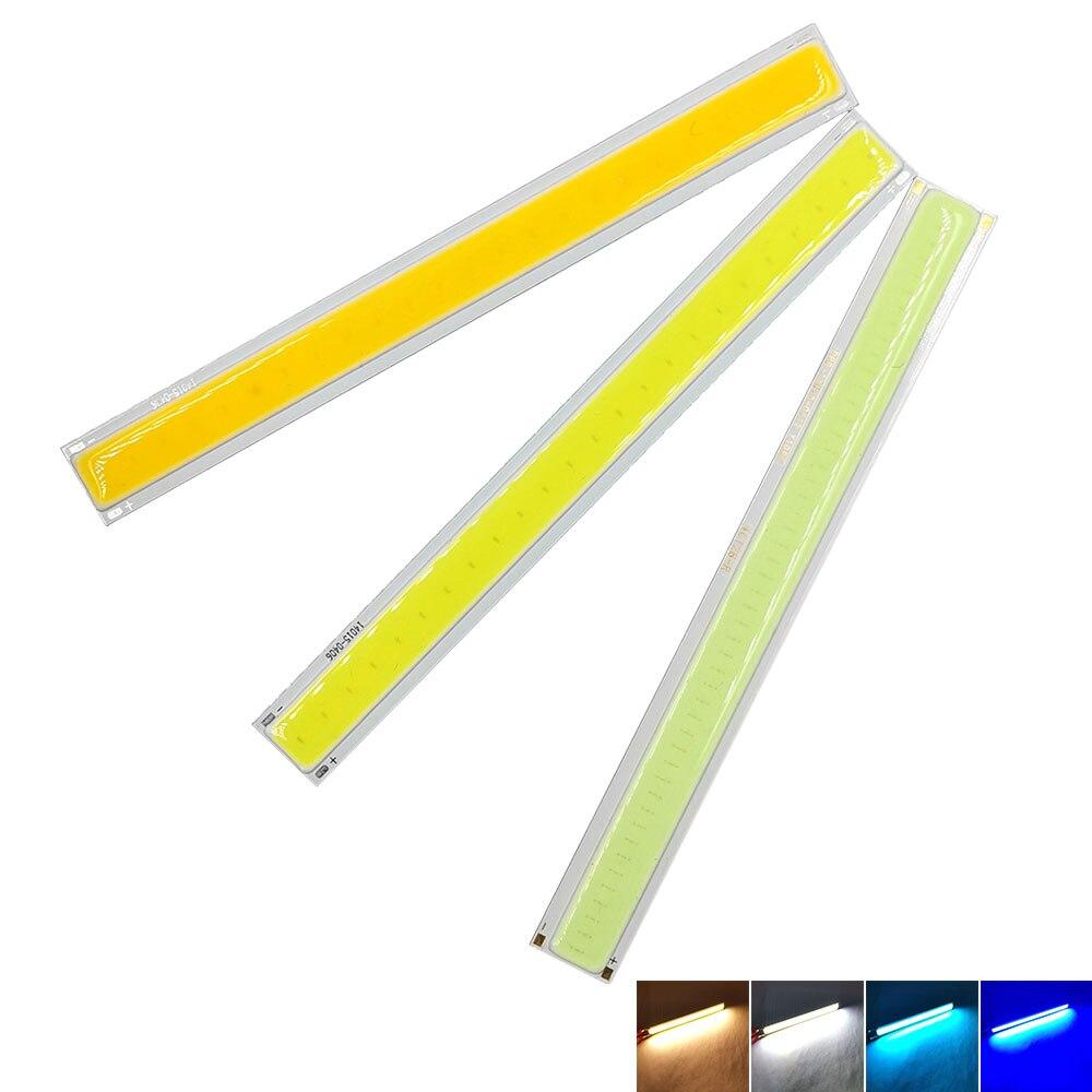 140mm COB Strip LED Light Bar For Car Daytime Running Lights Decoration Lighting 12V 4W COB Lamp Warm Cold White Blue Color 14cm