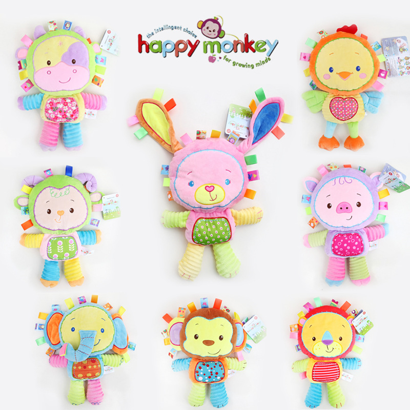 8 Styles Baby Toys Plush Rattles Cute Stuffed Animal Infant Educational Learning Toys Gift for Toddler Children 0-12 month WJ199