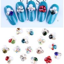 100Pcs Pearl Heap Rhinestone Alloy For Nail Accessories Crystal & Rhinestones Gem Jewelry Art Deco