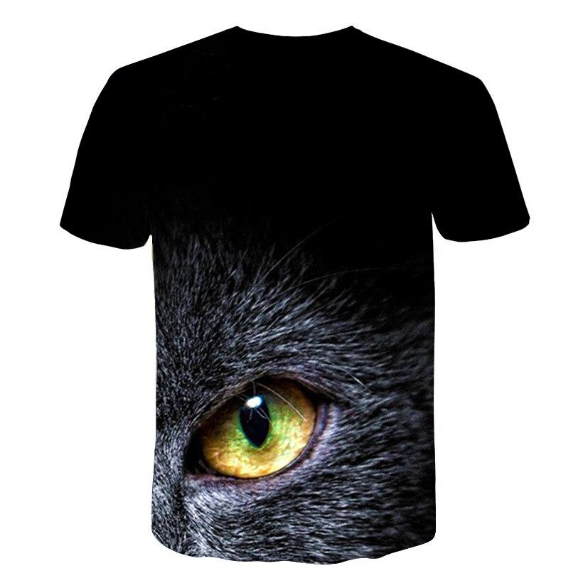 BIAOLUN New Cool T-shirt Men/Women 3d Tshirt Print two cat Short Sleeve Summer Tops Tees T shirt Male S-6XL 2