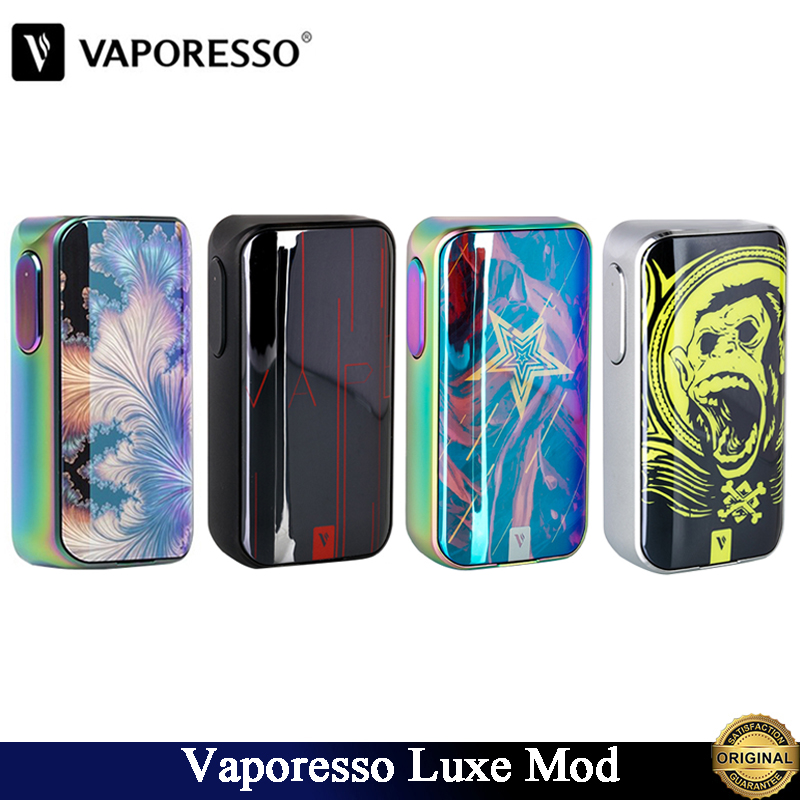 Original Vaporesso Luxe Mod 220w E Cig Luxe TC Box Mod Fit Dual 18650 Batteries Support