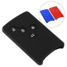 цена на 2 Colors 2 Buttons Silicone Straight Plate Car Key Cover Protector Holder for Renault Dacia Modus Clio 3 Twingo Kangoo 2 New