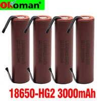 Batería Original de alta capacidad HG2 18650, 3000mah, para HG2, corriente de alto voltaje de descarga, bricolaje nicke