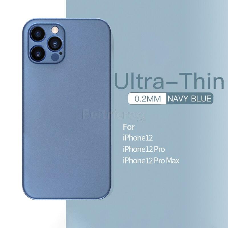 Ультратонкий полипропиленовый чехол для iPhone 12 11 Pro Max 12Mini X XR XS Max SE 2020 7 8 6 6s Plus, матовый легкий полупрозрачный жесткий чехол для телефона
