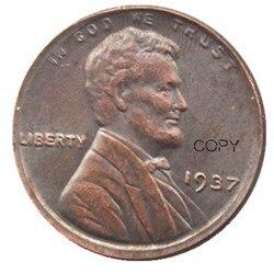 США 1915S один цент 100% медная копия монеты