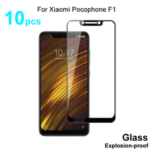 Tam kapak temperli cam için Xiaomi Pocophone F1 temperli cam ekran koruyucu koruyucu cam Xiaomi Pocophone F1