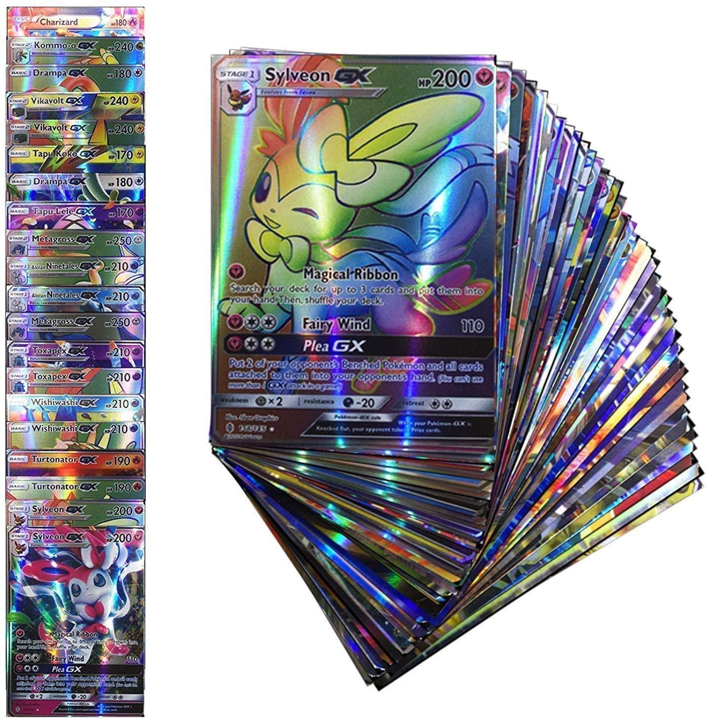 20 шт. без повторов Карты Покемон GX Сияющие карты Такара Томи игровая бирка команда Боевая карта торговая детская игрушка