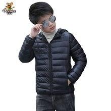 2020 outono inverno crianças com capuz para baixo jaquetas para meninas doces cor quente crianças para baixo casacos para meninos 3-14 anos outerwear roupas