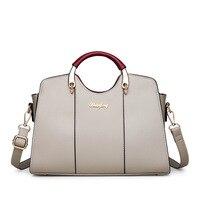 European and American Fashion Women's Bag One Shoulder Slant Crossbody Bag and Soft Leather Boston Handbag